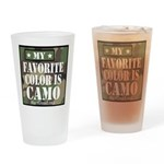 My Favorite Color Is Camo Drinking Glass