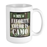 My Favorite Color Is Camo Mugs
