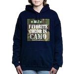 My Favorite Color Is Camo Women's Hooded Sweatshir