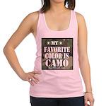 My Favorite Color Is Camo Racerback Tank Top