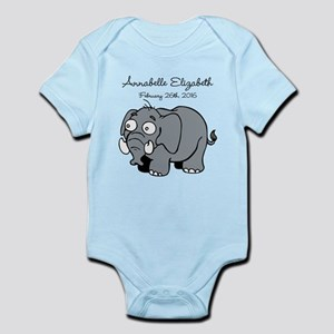 Cute Elephant Personalized Body Suit