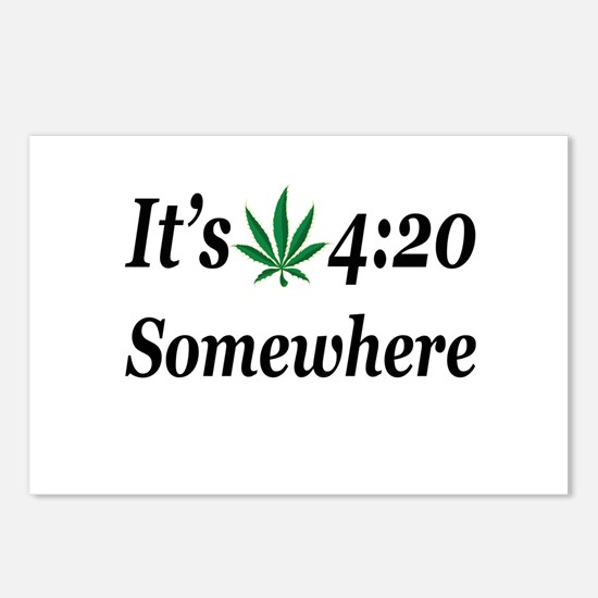 Its 420 Somewhere Postcards (Package of 8)