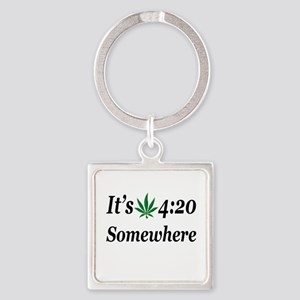 Its 420 Somewhere Keychains