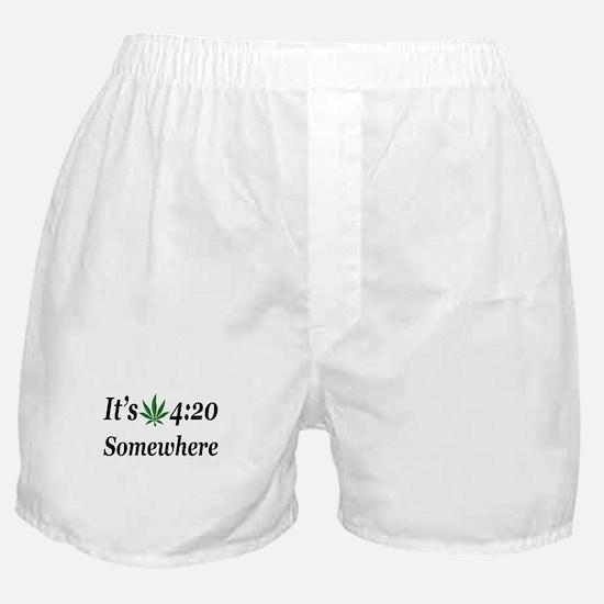 Its 420 Somewhere Boxer Shorts