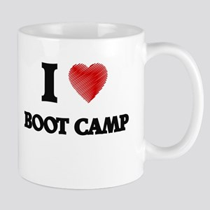 I Love BOOT CAMP Mugs