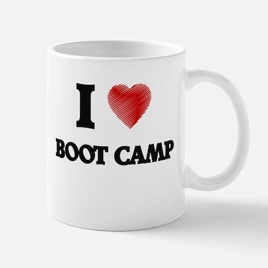 I Love BOOT CAMP Mugs