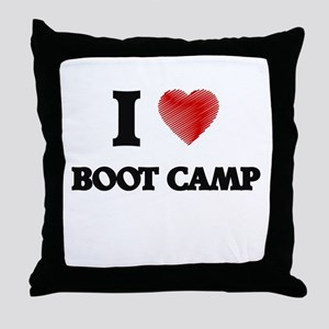 I Love BOOT CAMP Throw Pillow