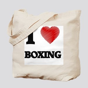 I Love BOXING Tote Bag