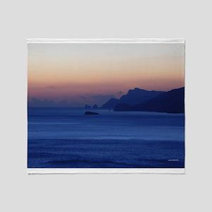 Capri Coast from Positano Italy Throw Blanket
