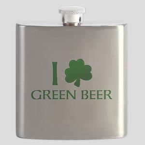 Personalized Shamrock Flask