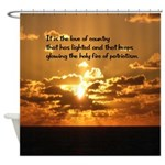 Love Of Country Shower Curtain