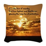 Love of Country Woven Throw Pillow