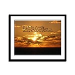 Love of Country Framed Panel Print