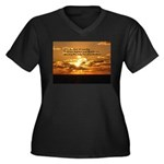 Love of Coun Women's Plus Size V-Neck Dark T-Shirt