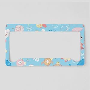 Cute Sea Life License Plate Holder