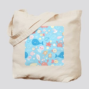 Cute Sea Life Tote Bag
