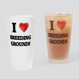 I Love BREEDING GROUNDS Drinking Glass