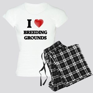I Love BREEDING GROUNDS Women's Light Pajamas