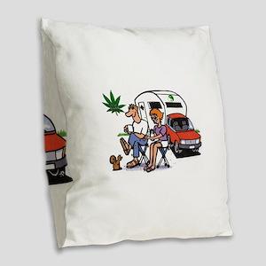 The Good Life Burlap Throw Pillow