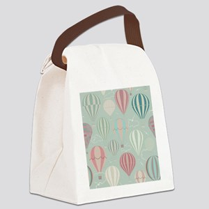 Vintage Hot Air Balloons Canvas Lunch Bag