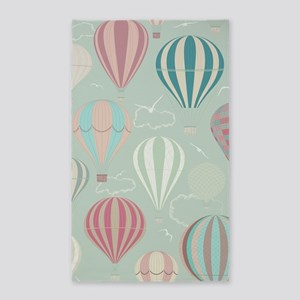 Vintage Hot Air Balloons Area Rug