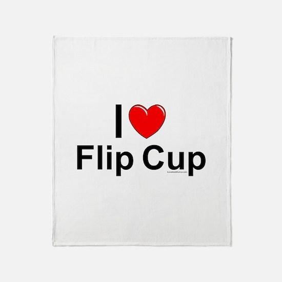 Flip Cup Throw Blanket