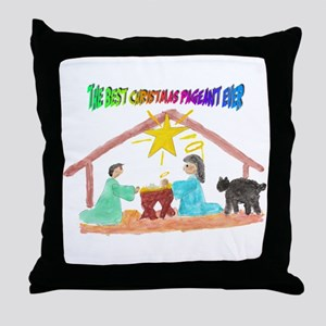 Christmas Pageant Manger Throw Pillow