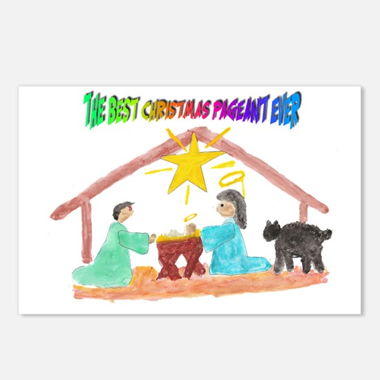 Christmas Pageant Manger Postcards (Package of 8)