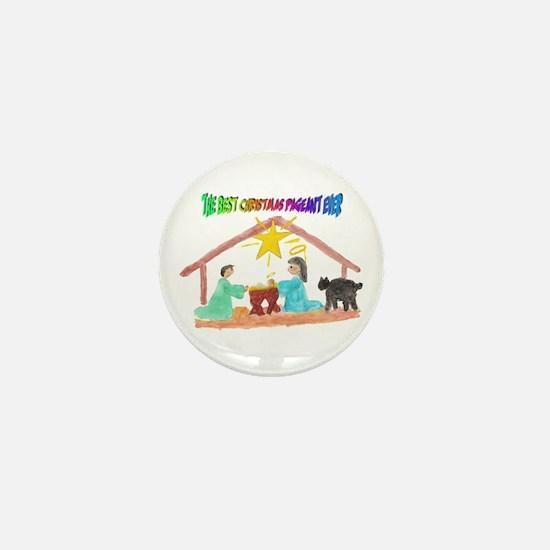 Christmas Pageant Manger Mini Button
