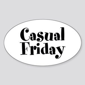 Casual Friday Sticker (Oval)