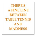 table tennis Square Car Magnet 3