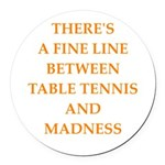 table tennis Round Car Magnet