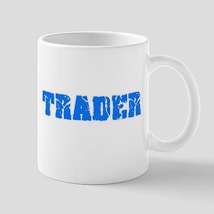 Trader Blue Bold Design Mugs