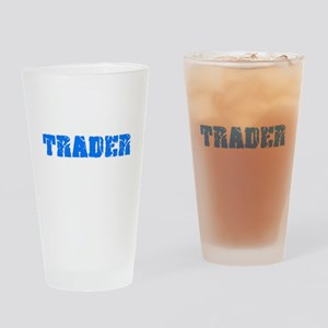 Trader Blue Bold Design Drinking Glass