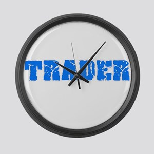 Trader Blue Bold Design Large Wall Clock