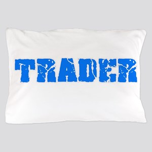 Trader Blue Bold Design Pillow Case