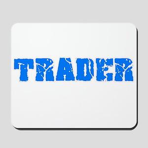 Trader Blue Bold Design Mousepad