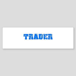 Trader Blue Bold Design Bumper Sticker