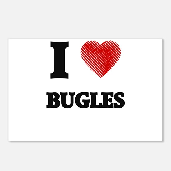 I Love BUGLES Postcards (Package of 8)