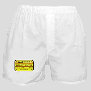 Warning Student Driver Boxer Shorts
