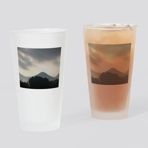 Smoke in the mountains Drinking Glass