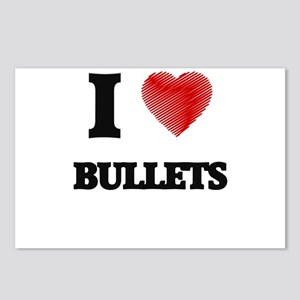 I Love BULLETS Postcards (Package of 8)