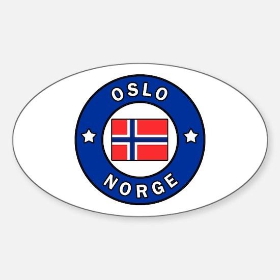 Cool Norwegian fjord Sticker (Oval)