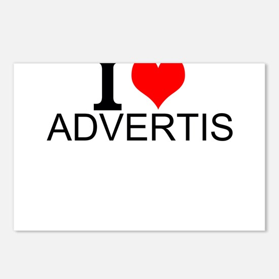 I Love Advertising Postcards (Package of 8)