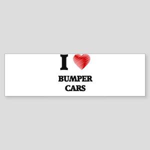 I Love BUMPER CARS Bumper Sticker