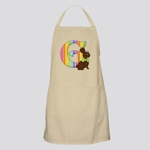 Letter G Chocolate Easter Bunny Apron