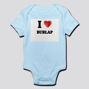 I Love BURLAP Body Suit