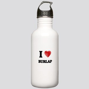 I Love BURLAP Stainless Water Bottle 1.0L