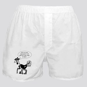 Fun Knee Replacement Chicken Boxer Shorts