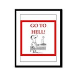 funny sports and gaming joke Framed Panel Print